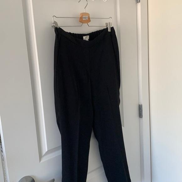 Jcrew black pull on black pants